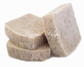 Oatmeal Milk and Honey Hot Process Soap Vegan Friendly with Shea Butter