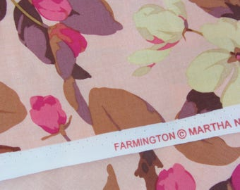 Martha Negley Farmington Crabapple Path cotton fabric by the half yard