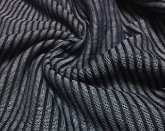Vertical Stripes  Knit Fabric 1-5/8 Yards