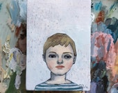 Oil painting portrait - Brigetta - Original art