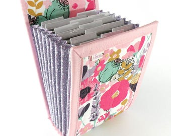 Circular Needle Case - Spring Garden - Needle Holder Needle Wallet Circular Needle Organizer Pink Flowers