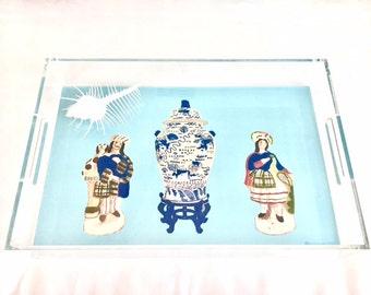 STAFFORDSHIRE FIGURES 11x17 Acrylic Tray