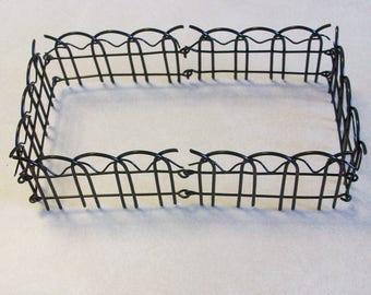 Miniature Black wire fence for Fairy , mini gardens or terrariums