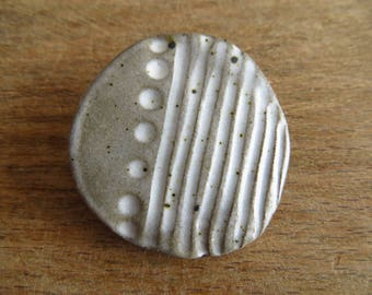 one of a kind ceramic brooch by Olivia Jeffries