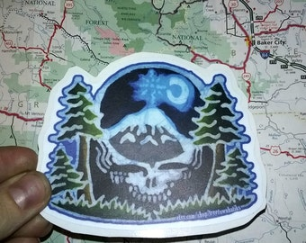 Grateful Dead Steal Your Face Pacific Northwest Sticker-Vinyl