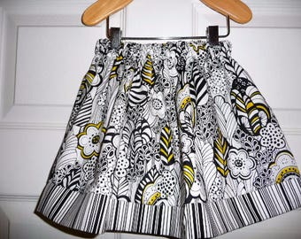 Sample SALE - Will fit Size 12 month to 3T - Ready to MAIL - SKIRT - Black and White - by Boutique Mia