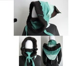 Mint Cookie: Cashmere Upcycled Hooded Cowl