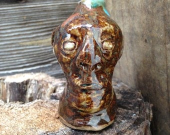 tiny little FACE JUG by Joel Patton
