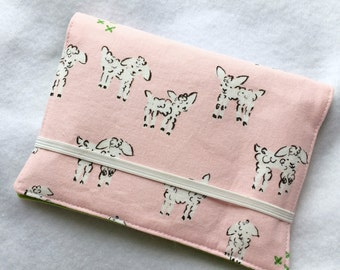 Crayon Wallet // Clover Little Lamb in Pink by Alexia Marcella Abegg