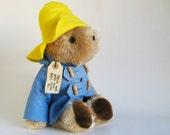 Vintage Paddington Bear Plush Toy Teddy Bear Stuffed Animal 1980s Toy Kids Toy