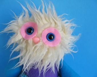 Girl Monster Yeti Doll Plush Abominable Snowman Twirly Skirt Stuffed animal
