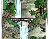 ON SALE Postcards - Postcard Set - Multnomah Falls Postcards - Set of Three Multnomah Falls Postcards - Oregon Postcards - Multnomah Falls