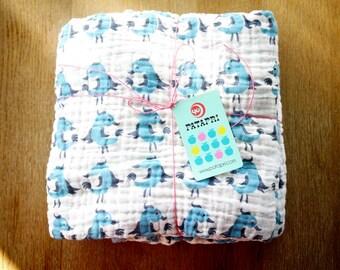 bird baby blanket