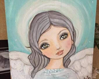 Lil' Guardian Angel...mixed medium  original Painting