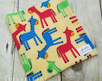 Horses - Reusable Sandwich Bag | Snack Bag | Waterproof | Travel Bag from green by mamamade