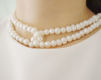 Statement Necklace Pearl Necklace Wedding Jewelry Set Wedding Necklace Pearl Jewelry Bridesmaid Gift Collar Necklace Bridal Necklace Gift