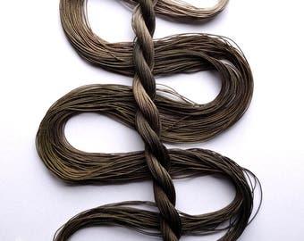 "Size 40 ""Khaki"" hand dyed thread 6 cord cordonnet tatting crochet cotton"