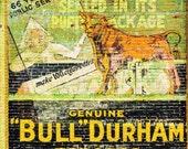 "vintage ad wall art, vintage tobacco ad, retro wall art, large art, large wall art, large canvas wall art, large art print - ""Bull Durham"""