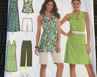 Simplicity 3773 easy to sew women's dress tunic capri pants and city shorts pattern Size AA uncut