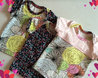baby girl clothes - newborn clothing - baby girl clothing - floral tops - infant tops - boutique baby items - nickisrainbow collection
