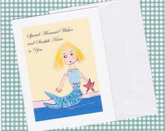 Mermaid Wishes Greeting Card