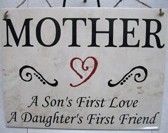 """MOTHER Tile 9""""x12"""" Ceramic floor tile sign"""