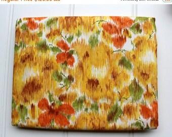 BIG SALE - New Vintage Duvet Cover - Cotton Comforter and Blanket Cover  - New Twin Full Queen - Orange Yellow Green - Unused NIP Nos Comfor
