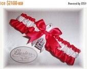 ON SALE Saint Louis Cardinals Wedding Garter   Handmade  Toss  St.  Satin RW