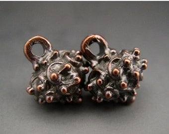 SALE Naos Mykonos Beads Greek Beads Casting Beads Bronze Bali Style Grape Cluster Drop Dangle Charms