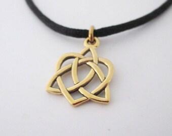 Adjustable Celtic Heart Bracelet