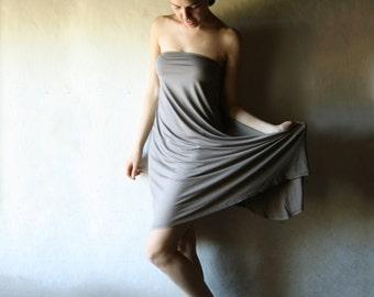 Strapless dress, Jersey dress, Loose dress, Cotton dress, High-low dress, A-line dress, Draped dress, Tunic dress, Bridesmaids dress, custom