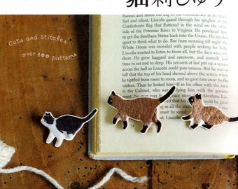 Cats and Stitch Embroidery Motifs  - Japanese Craft Book
