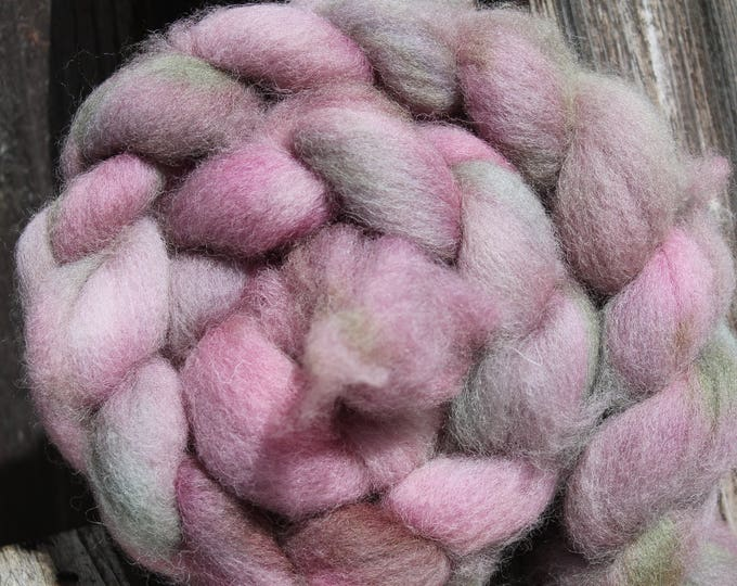 Kettle Dyed Cheviot Wool Top.  Easy to spin. 4oz  Braid. Spin. Felt. Roving. C90