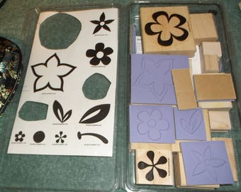 Island Flowers Stampin Up 12 Rubber stamp set