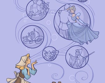 Patreon subscribers only: Cinderella Postcard