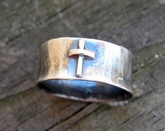 20% OFF TODAY Sterling silver cross ring