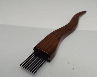 weaving beater, toothpick, tapestry, Ironwood, Fine, threadsthrutime