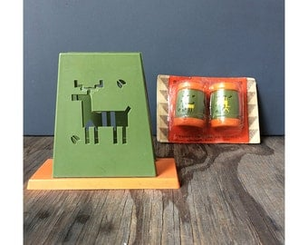 Camping Salt and Pepper Shakers and Napkin Holder - Saint Labre Indian School