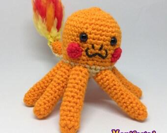 Octopus Plush Fox Amigurumi Crochet Foxy Bloop