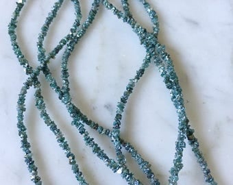 Natural GREEN DIAMONDS! Rough Uncut Center Drilled Diamond Nuggets Beads