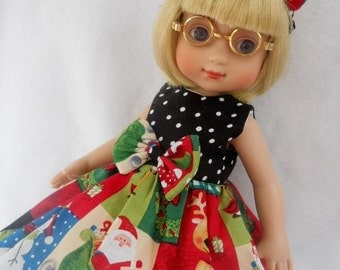 "YOUR CHOICE Of Christmas Dress For AG American Girl 14"" Doll Wellie Wishers Betsy McCall Ann Estelle Ginny Doll Clothes"