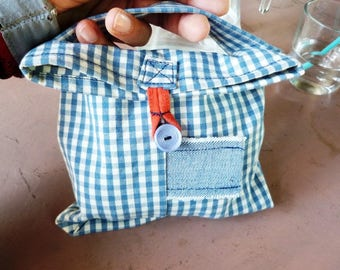 Child snack bag with handle, loop and button closure #4