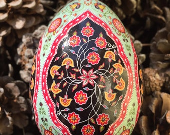 Prayers Persian Rug Pysanka Batik Easter Egg