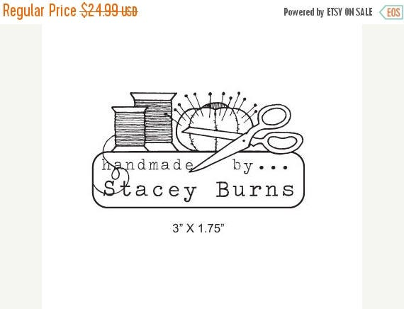 March Madness Sewing Thread Scissors and Pincushion Custom Handmade By Rubber Stamp I08