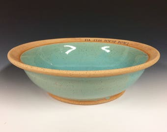 "10"" Custom name Bowl, soup bowl, serving fruit bowl, Hand made pottery, made to order"
