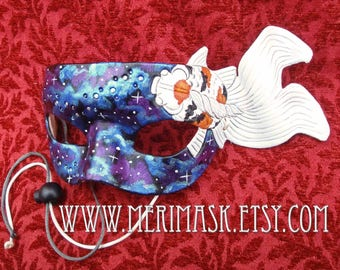 READY TO SHIP Japanese Goldfish Leather Mask...masquerade koi fish cosplay costume mardi gras halloween burning man