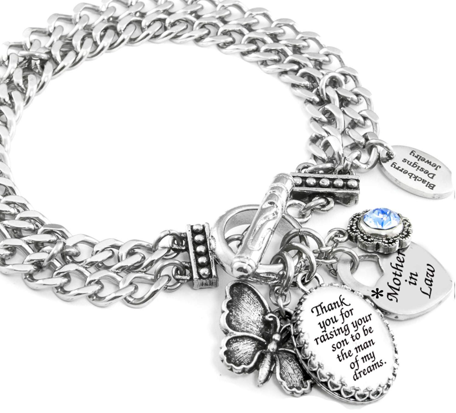 Mothers Charm Bracelet: Mother In Law Bracelet Mother In Law Jewelry Mother Of The