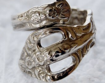 Silver Spoon Ring, Size 7-10