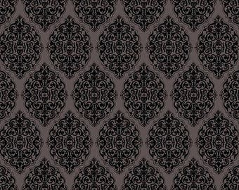 """NEW """"All for Love"""" by Mirabelle by Santoro, Damask in Lt Charcoal, yard"""