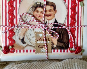 one of a kind greeting card, love and kisses, wedding